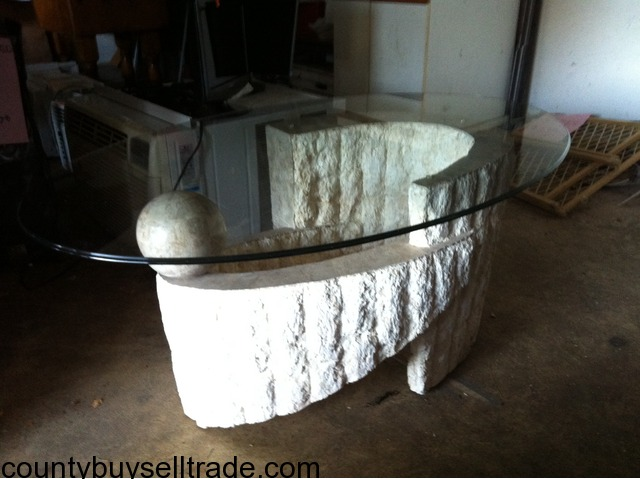 coffee table.marble and glass in brick, ocean, new jersey